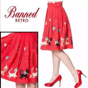 Pinup Style 1950's Kitten Party Skirt